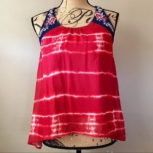 Living Doll Los Angeles Red White and Blue Top